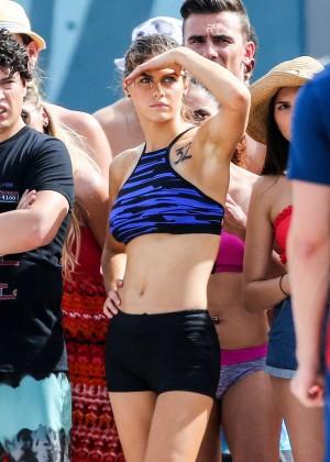 Alexandra Daddario on Baywatch set -07