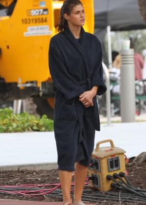 Alexandra Daddario on Baywatch set -22
