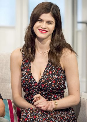 Alexandra Daddario on 'Lorraine' TV Show in London
