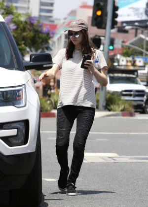 Alexandra Daddario out for coffee in LA