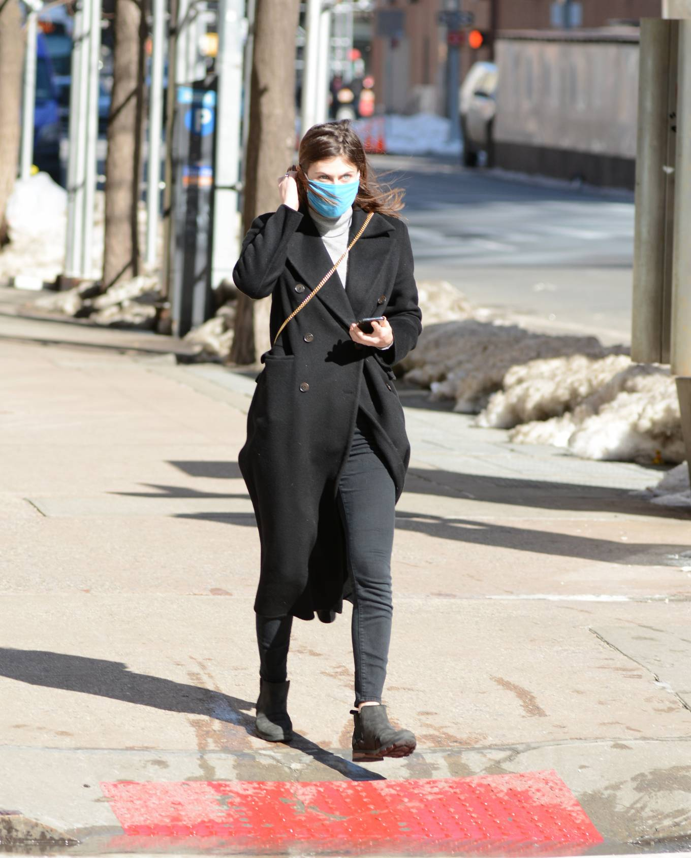 Alexandra Daddario - Stepping out in New York