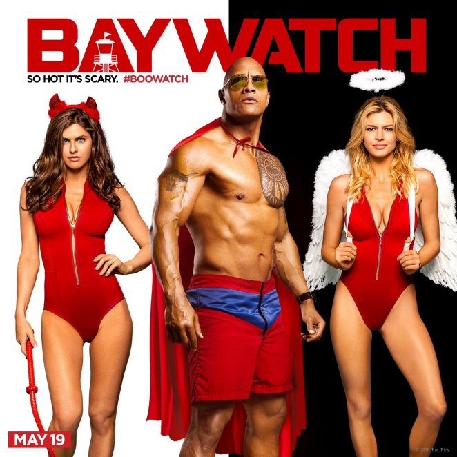 Alexandra Daddario, The Rock and Kelly Rohrbach wishing you a Happy Halloween