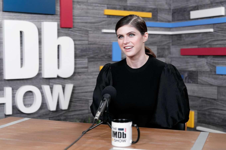 Alexandra Daddario 2019 : Alexandra Daddario – Visits The IMDB Show in Studio City-05