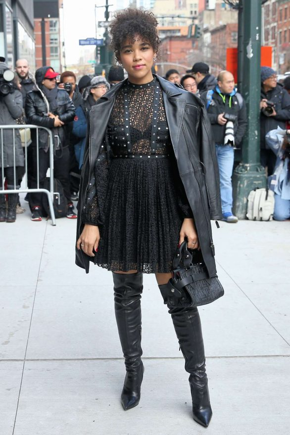 Alexandra Shipp attends 2020 Longchamp during New York Fashion Week