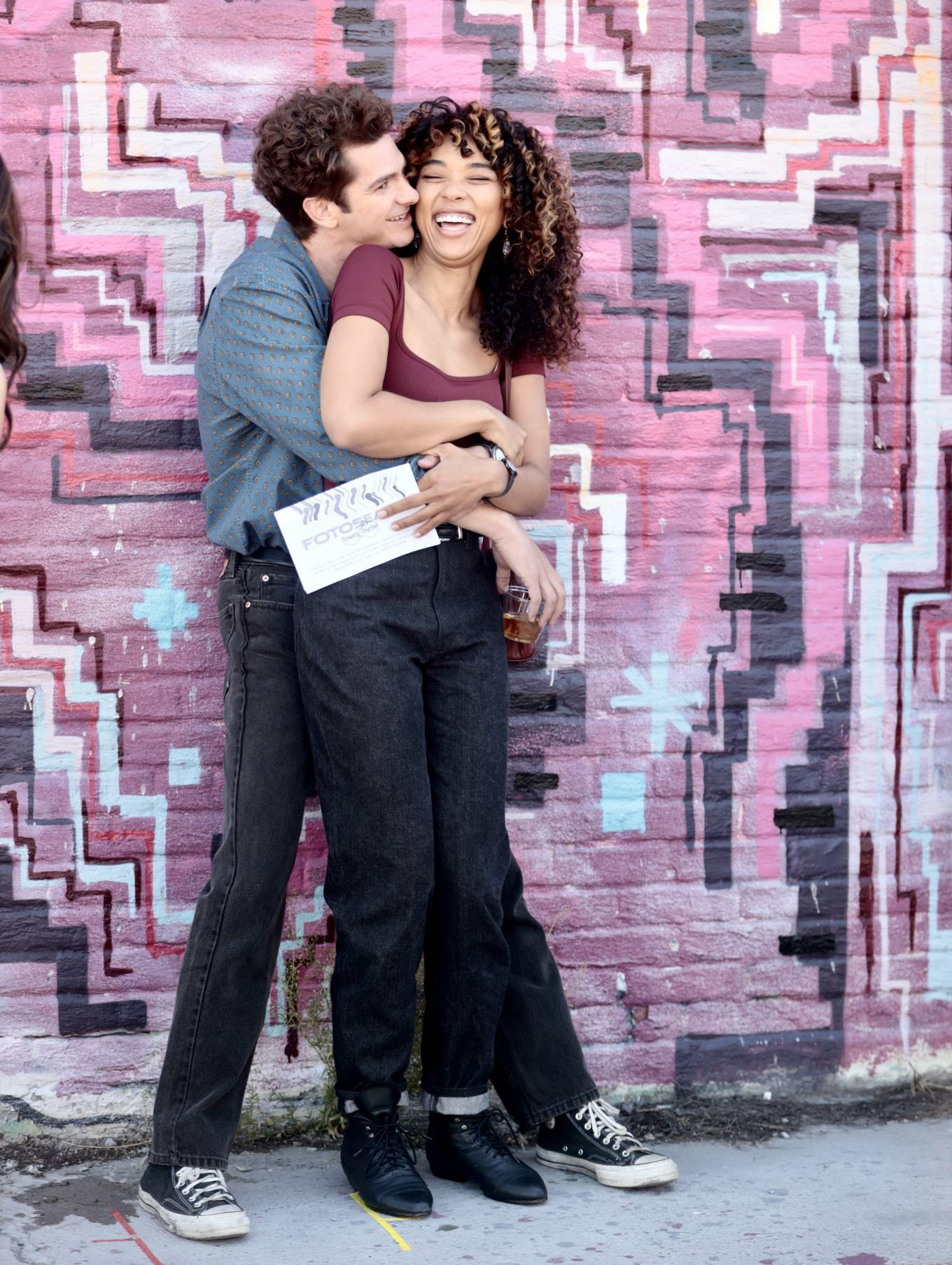 Alexandra Shipp 2021 : Alexandra Shipp – With Andrew Garfield – Filming Tick, Tick… Boom in New York-04