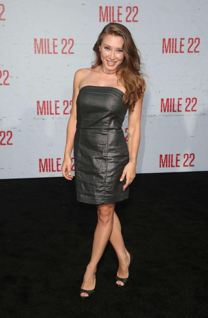 Alexandra Vino - 'Mile 22' Premiere in Los Angeles