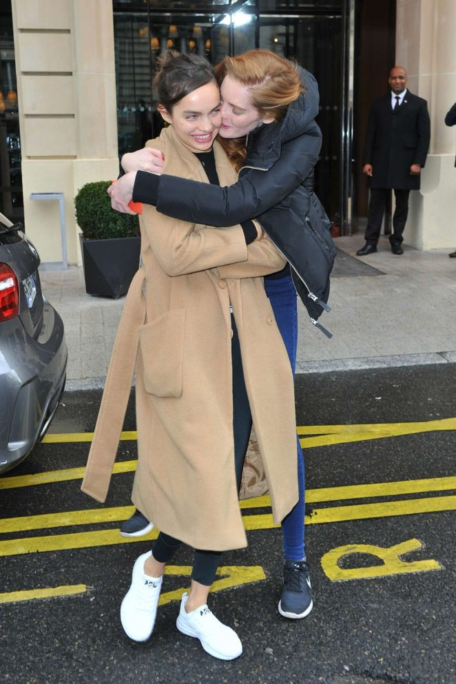 Alexina Graham and Luma Grohte at the Royal Monceau in Paris