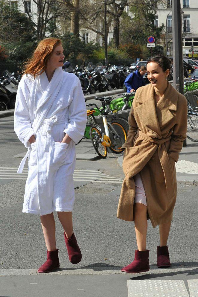 Alexina Graham and Luma Grohte - L'Oreal Photoshoot in Paris