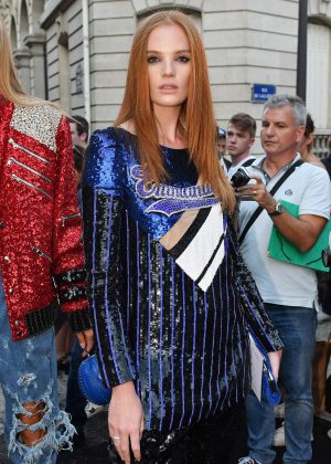 Alexina Graham - Arriving at Vogue Dinner Party in Paris