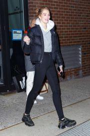 Alexina Graham - Departing a Victoria's Secret photoshoot at Milk Studios in New York