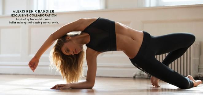 Alexis Ren - 'Alexis Ren x Bandier' Workout Line 2016