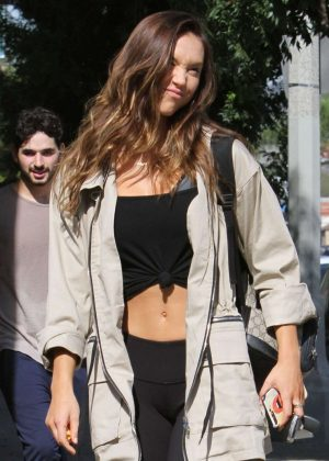 Alexis Ren - Heading to the DWTS studio in Los Angeles