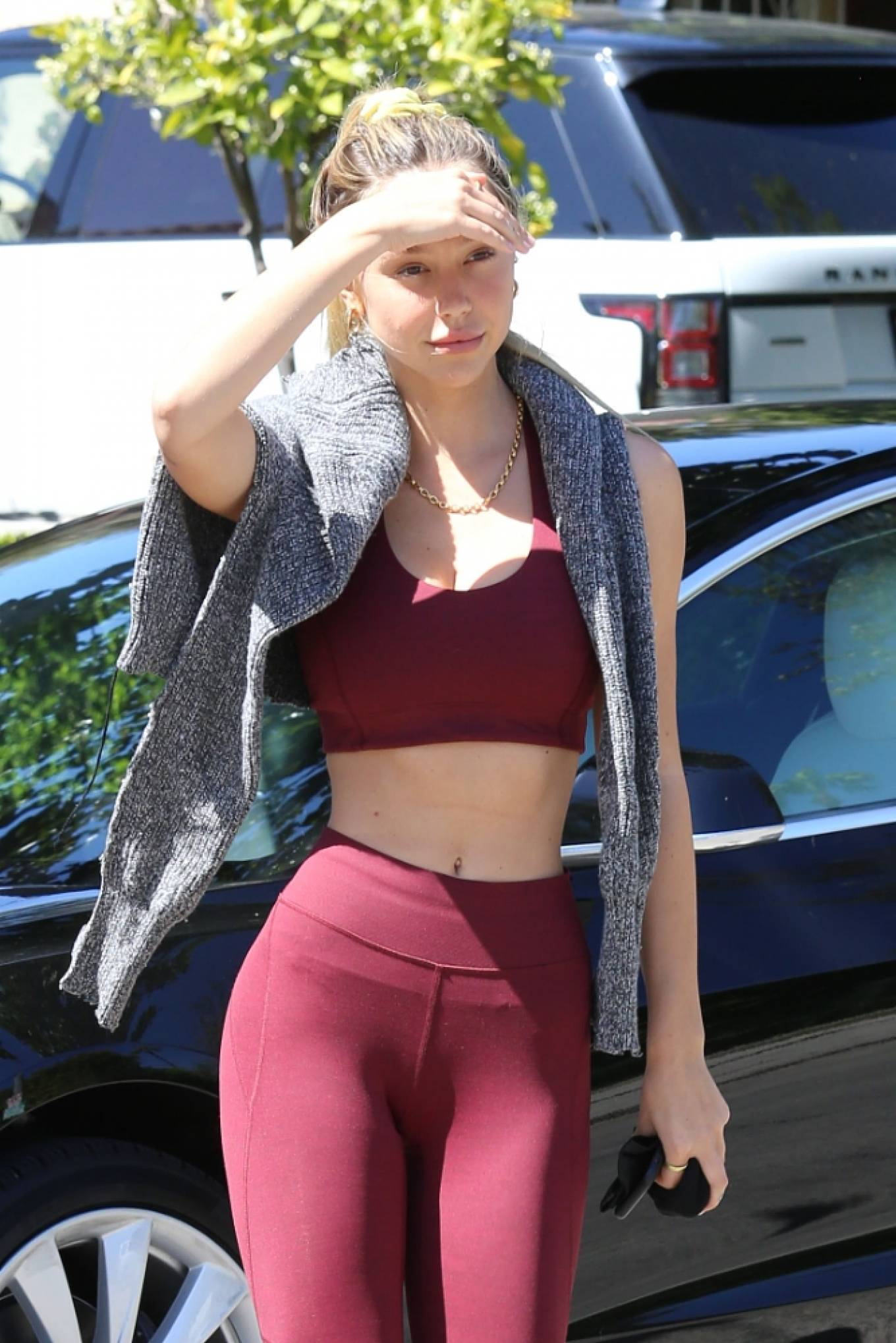 Alexis Ren - Is seen heading to gym in Los Angeles