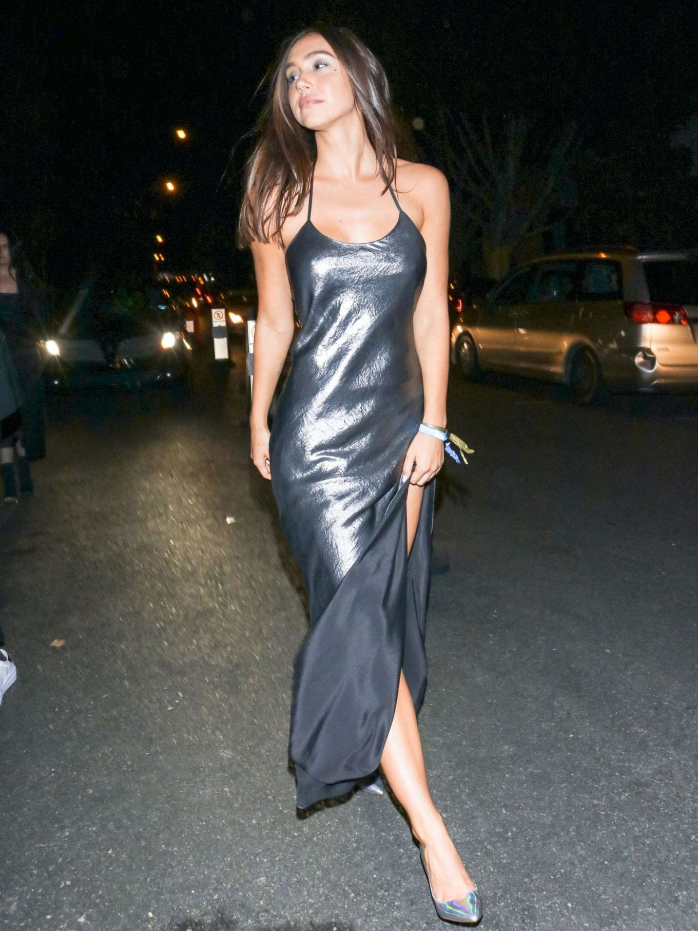 Alexis Ren - Leaving the Unicef Masquerade Ball in West Hollywood
