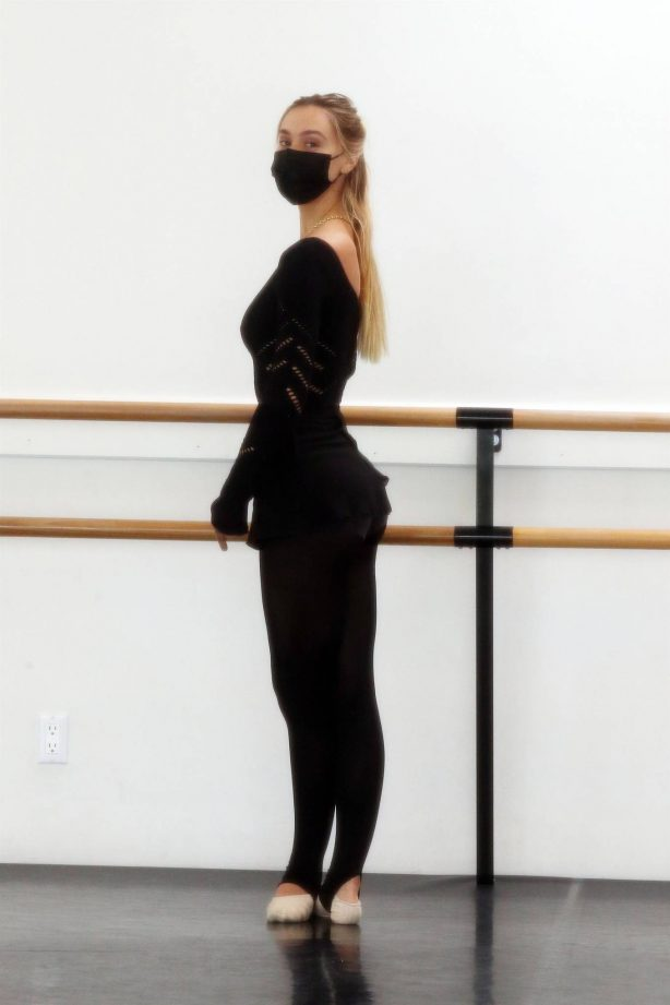 Alexis Ren - Spotted after ballet session on Easter in Los Angeles
