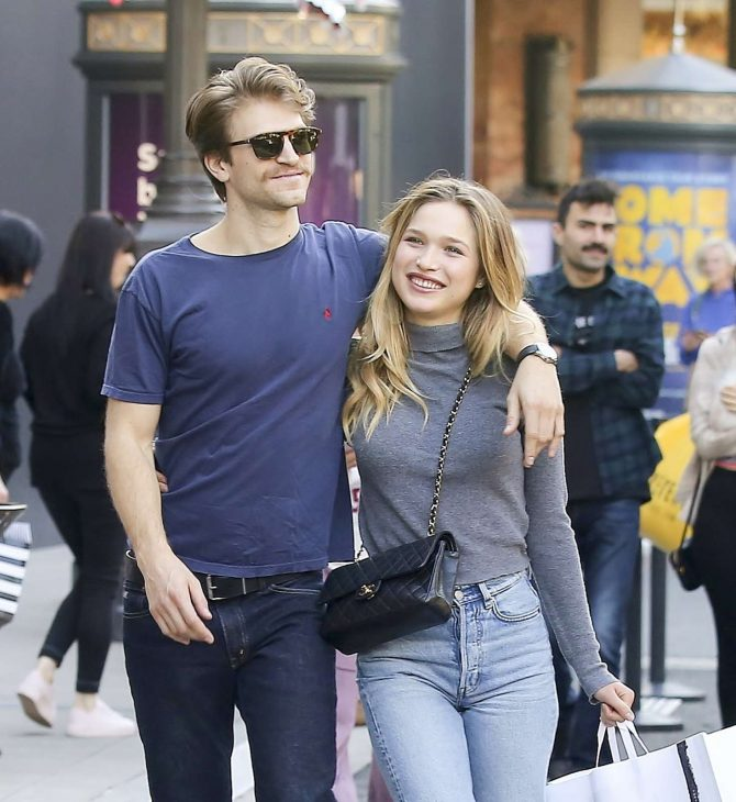 Ali Collier with boyfriend shopping in Los Angeles