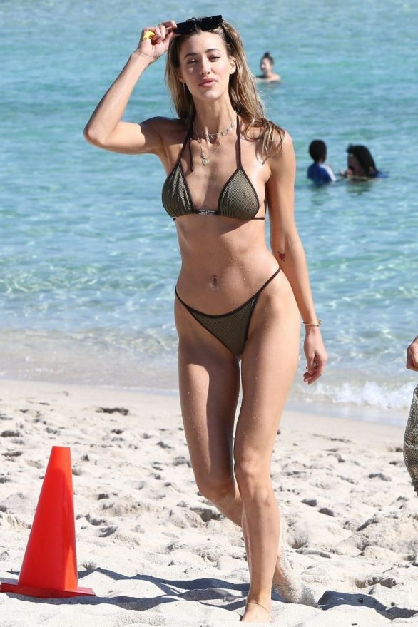 Ali Kay in bikini at the beach in Miami