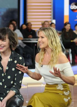 Ali Larter and Milla Jovovich - Good Morning America in New York