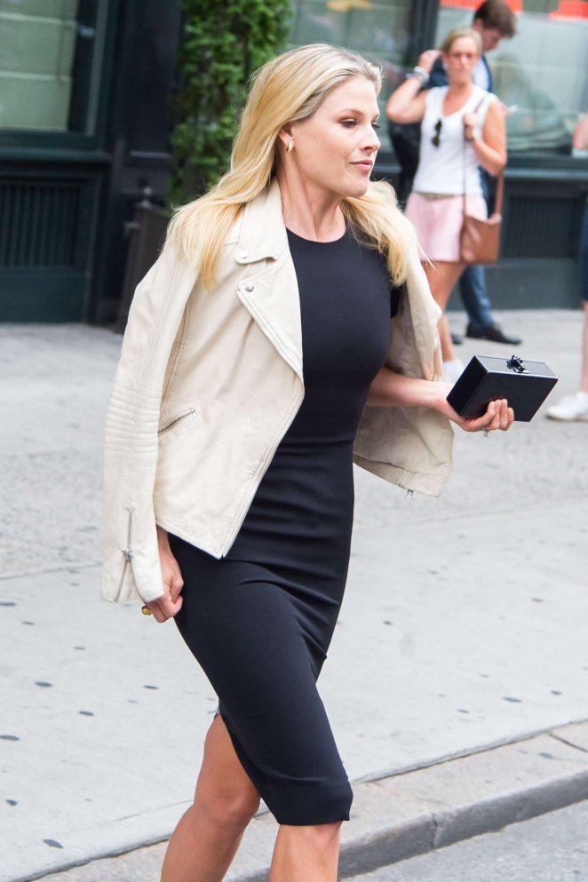 Ali Larter in Black Dress out in New York City