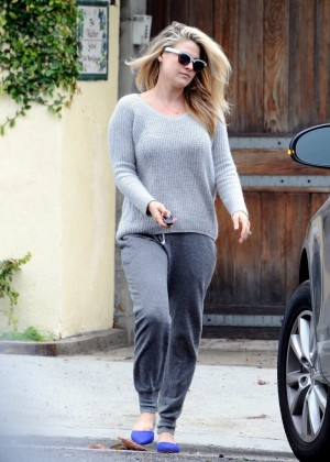 Ali Larter in Grey Sweatpants out in LA