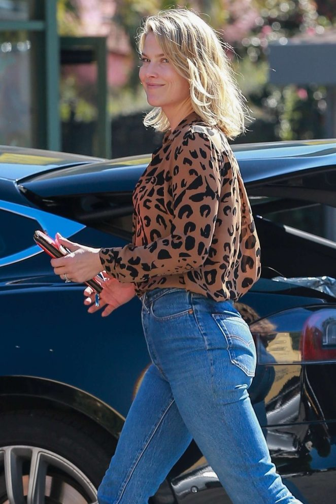 Ali Larter in Jeans out in Brentwood