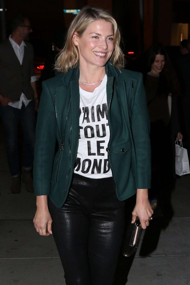 Ali Larter in Leather - Arrives at Craig's in West Hollywood