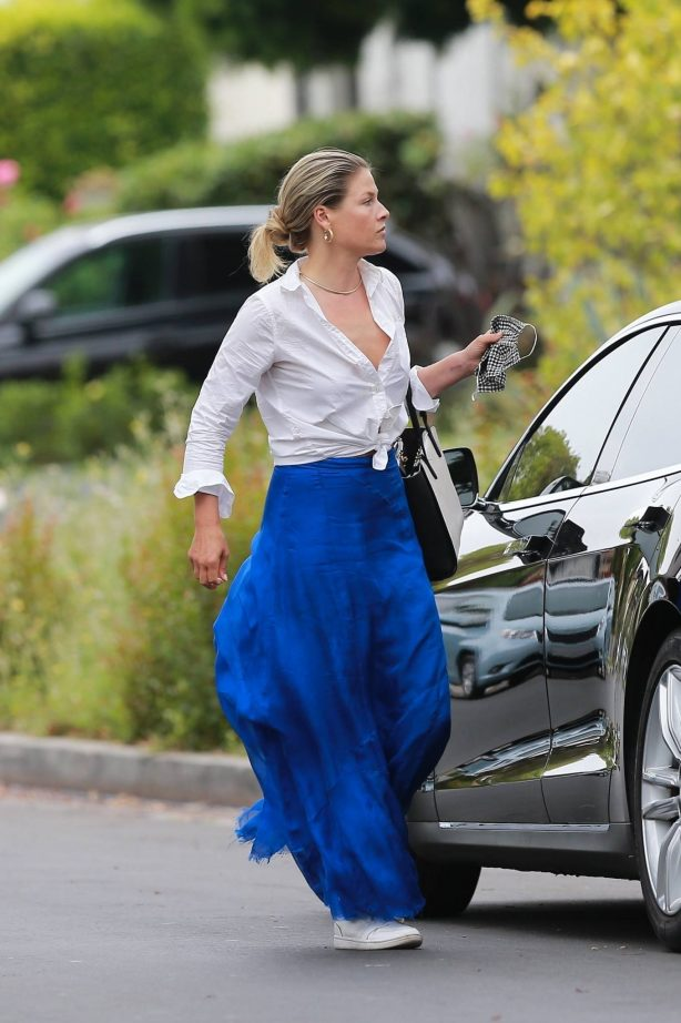 Ali Larter in Long Blue Skirt - Out in Hollywood