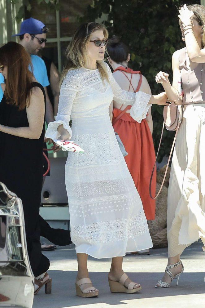 Ali Larter in Long Dress out for lunch in Santa Monica