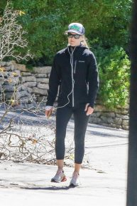 Ali Larter in Tights - Out and about in Pacific Palisades