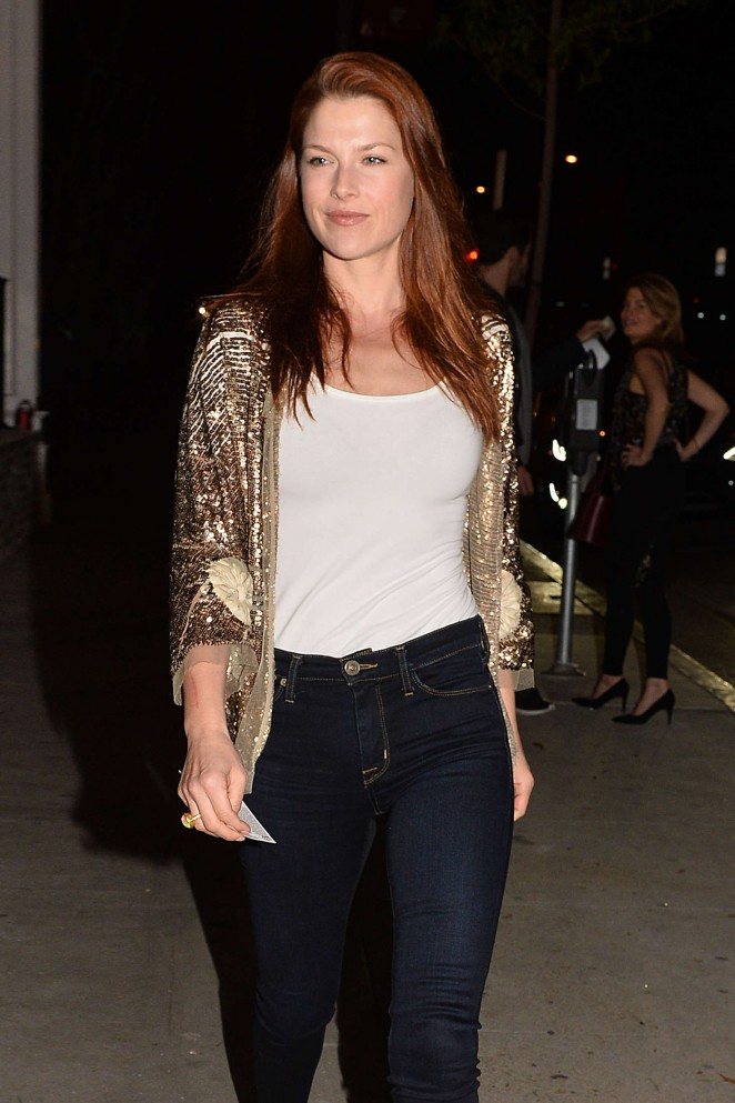 Ali Larter Leaves The Opening of Au Fudge in West Hollywood