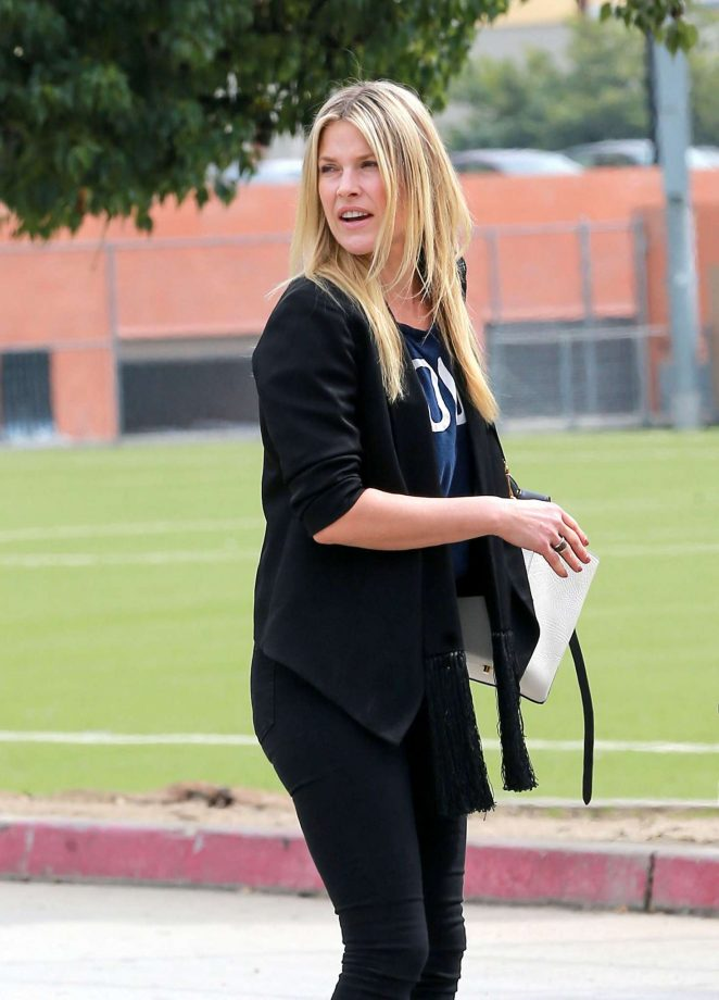 Ali Larter on movie set in Hollywood