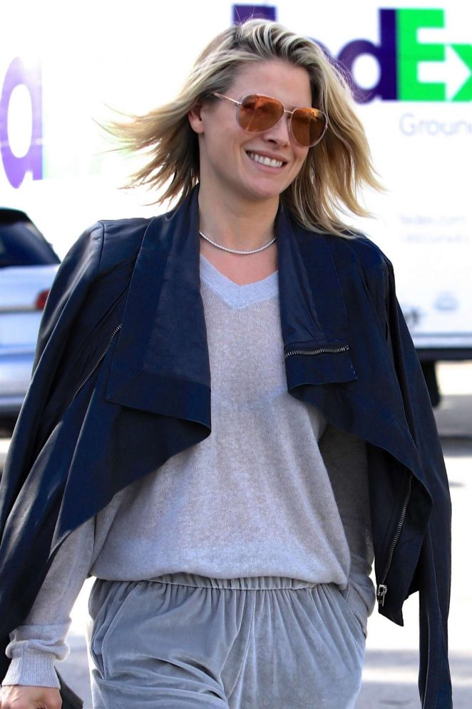 Ali Larter out for lunch at Gracias Madre in West Hollywood