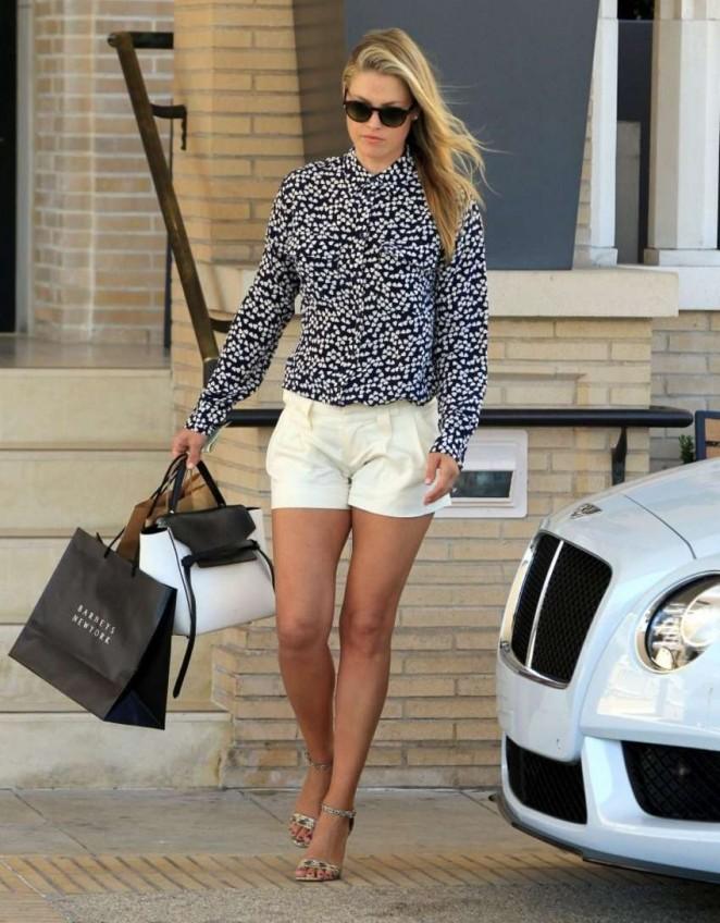 Ali Larter in Shorts - Shopping in Los Angeles, August 2014 • CelebMafia