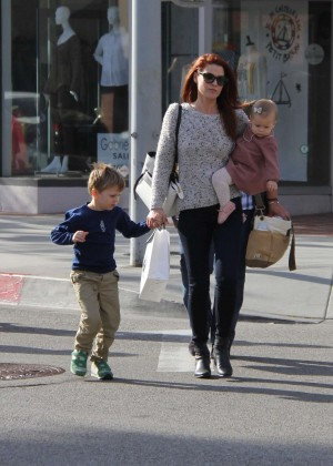 Ali Larter with her children out in Beverly Hills