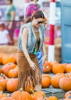 Ali Levine at Pumpkin Patch in Los Angeles