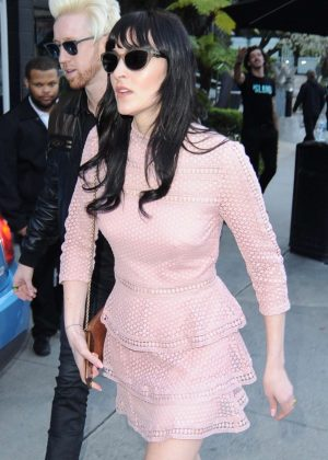 Ali Lohan - Arrives at the Island Records pre-Grammy party in Los Angeles