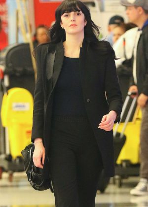 Ali Lohan at JFK Airport in NYC
