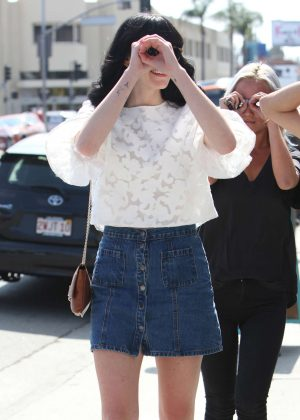 Ali Lohan in Jeans Mini Skirt out in West Hollywood