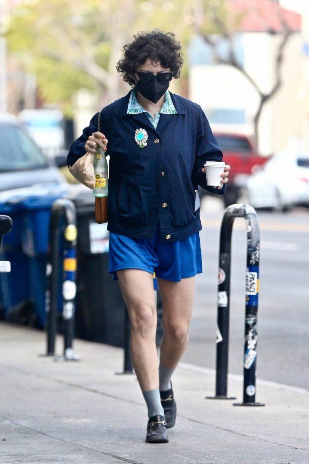 Alia Shawkat - steps out in shorts in Los Feliz