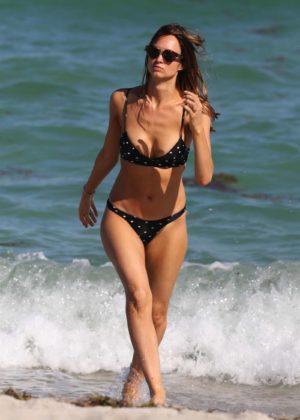 Alice Amelie in Bikini on the beach in Miami Pic 2 of 35