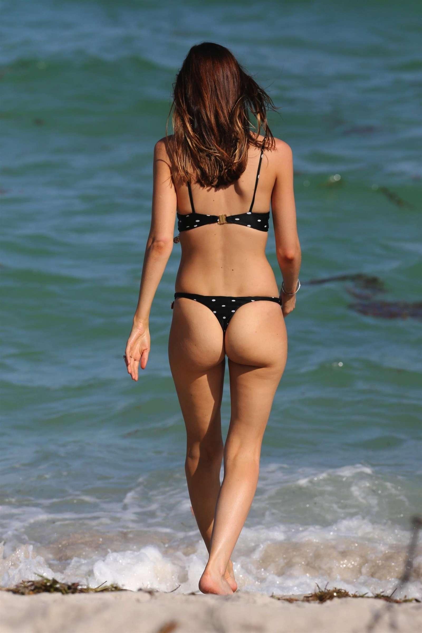 Alice Amelie in Bikini on the beach in Miami Pic 8 of 35