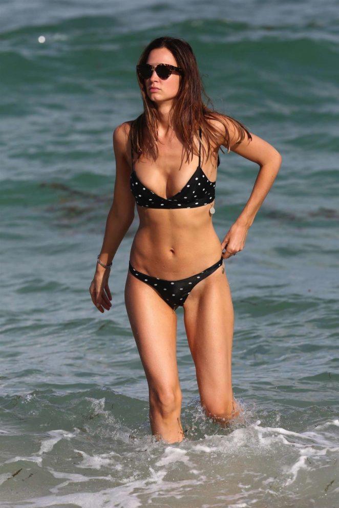Alice Amelie in Bikini on the beach in Miami