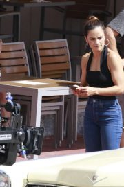 Alice Braga and Hemky Madera - Filiming Season 4 of 'Queen of The South' in Miami