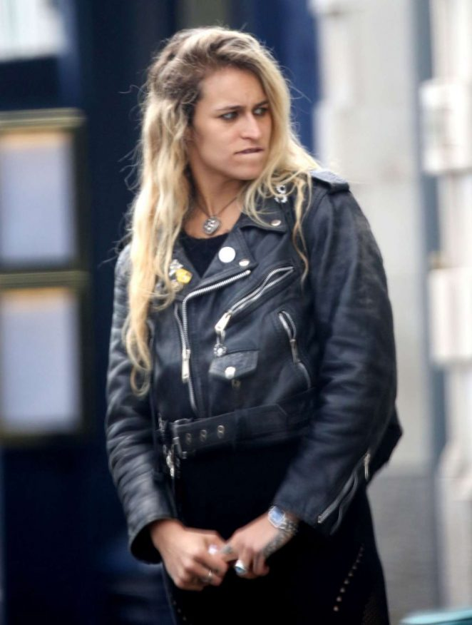 Alice Dellal Out in London