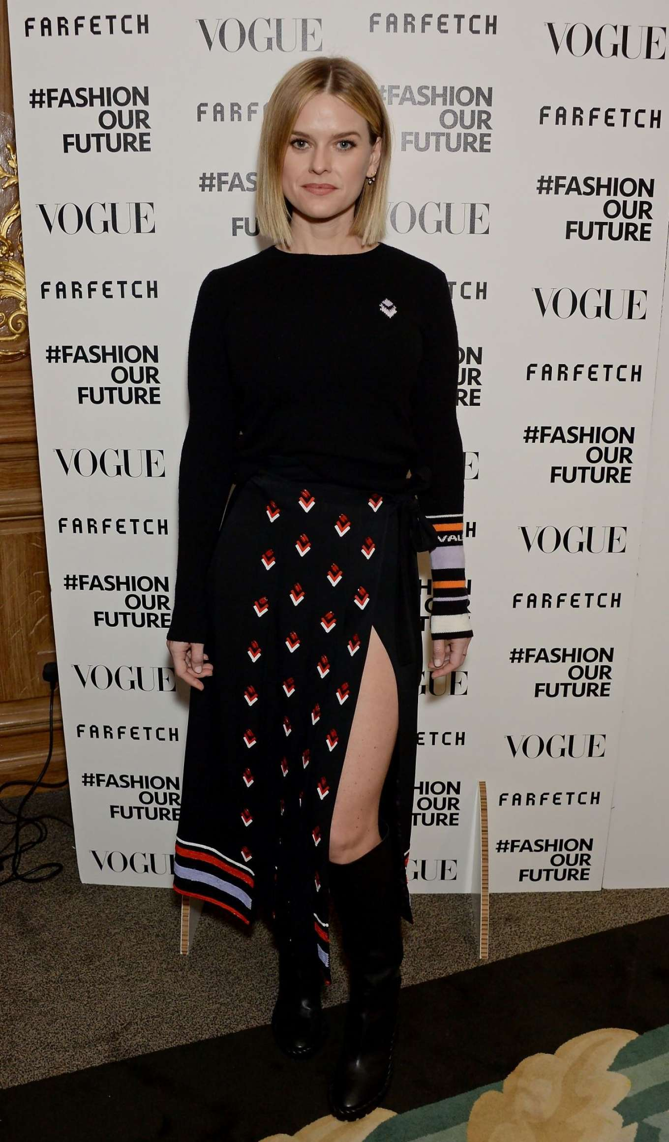 Alice Eve - Fashion Our Future launch event at 2020 London Fashion Week