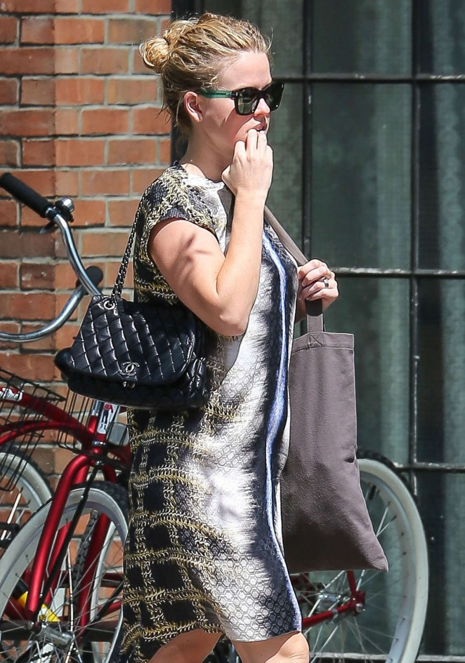 Alice Eve in Mini Dress Leaving the Bowery Hotel in NYC