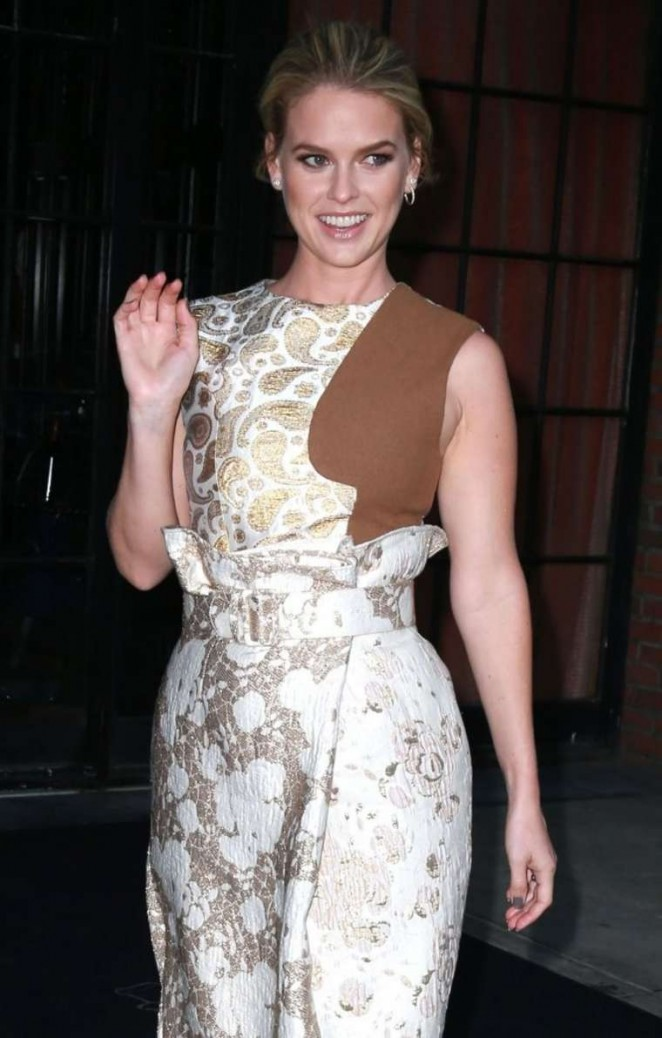 Alice Eve - Leaving the Bowery Hotel in New York