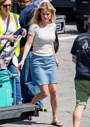 Alice Eve on set of 'Hannah Royce's Questionable Choices' in LA