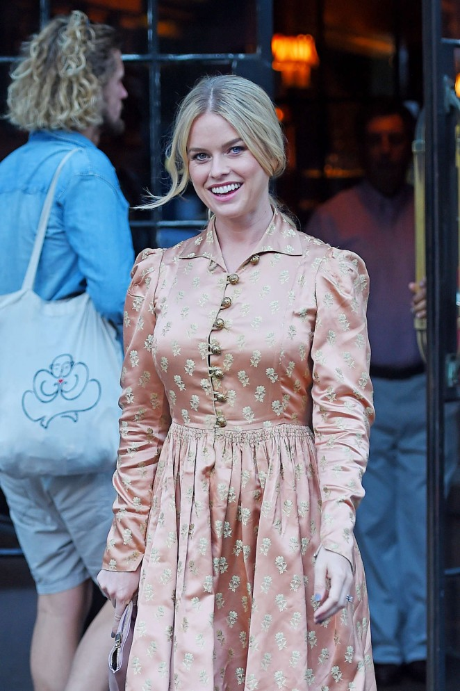 Alice Eve - Out and about in NYC