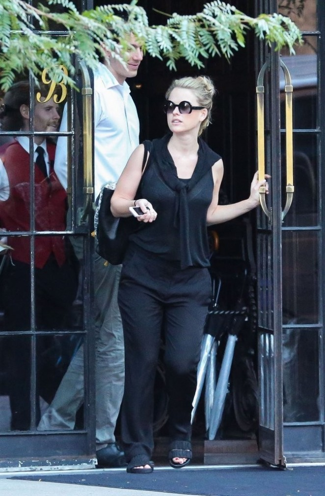 Alice Eve out in NYC
